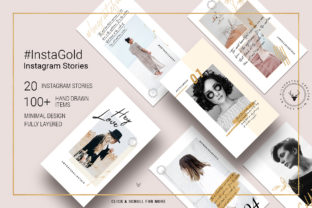 #InstaGold - Minimal Elegant Gold Instagram Story Templates Graphic By SilverStag