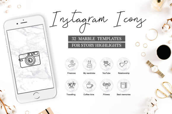 Instagram Highlight Covers Graphic Icons By switzershop