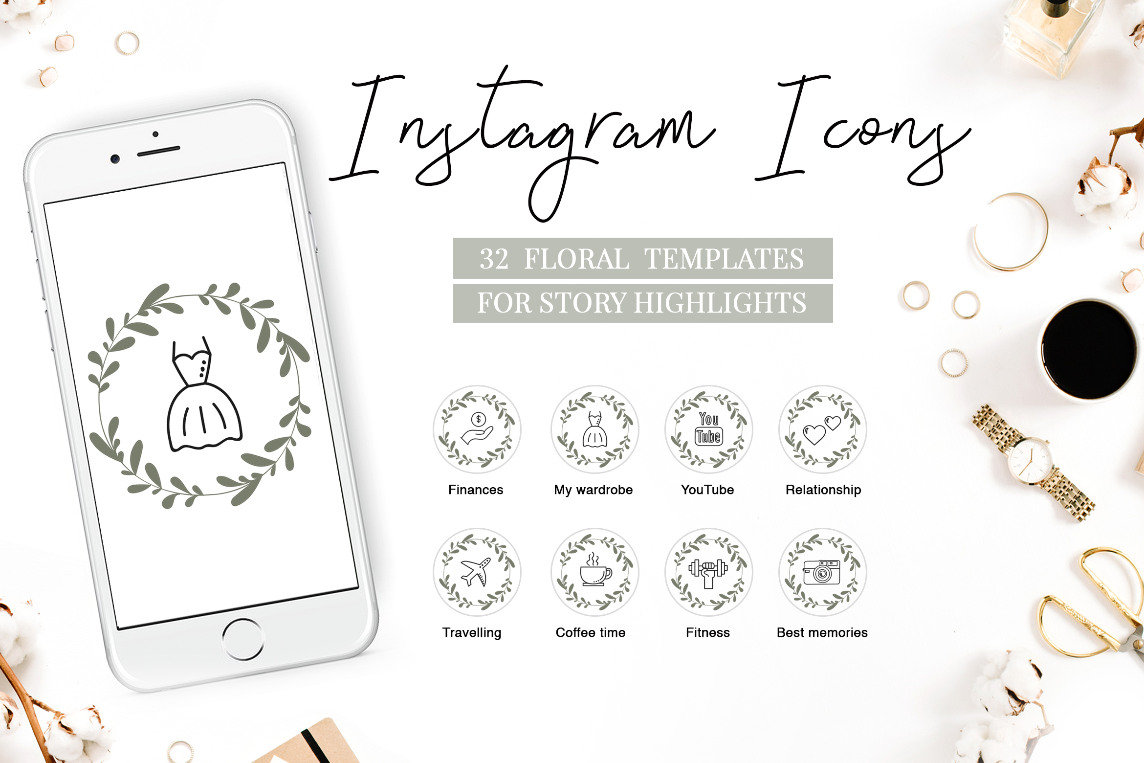 Download Free Instagram Highlight Covers Grafik Von Switzershop Creative Fabrica for Cricut Explore, Silhouette and other cutting machines.