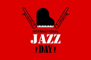 Download Free International Jazz Day Vector Illustration Graphic By Deemka for Cricut Explore, Silhouette and other cutting machines.