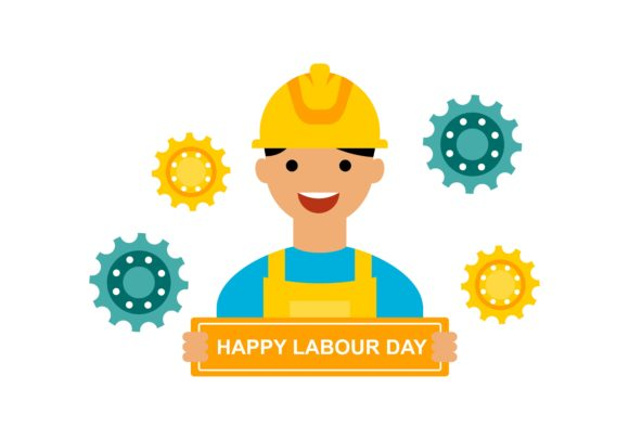 Download Free International Labor Day Industry Logo Vector Graphic By Deemka for Cricut Explore, Silhouette and other cutting machines.