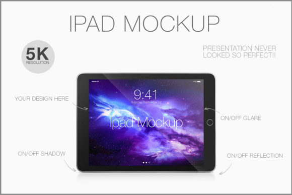 Download Free Ipad Black Horizontal Mockup Graphic By Brunonunesdp Creative SVG Cut Files