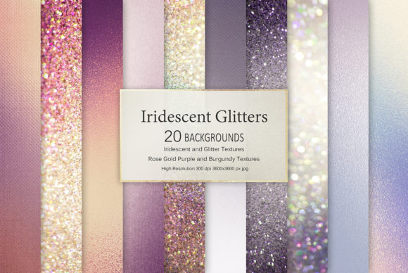 Print on Demand: Iridescent Glitter Textures Graphic Textures By Creative Paper