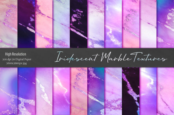 Colorful Iridescent Marble Textures Graphic Backgrounds By Creative Paper