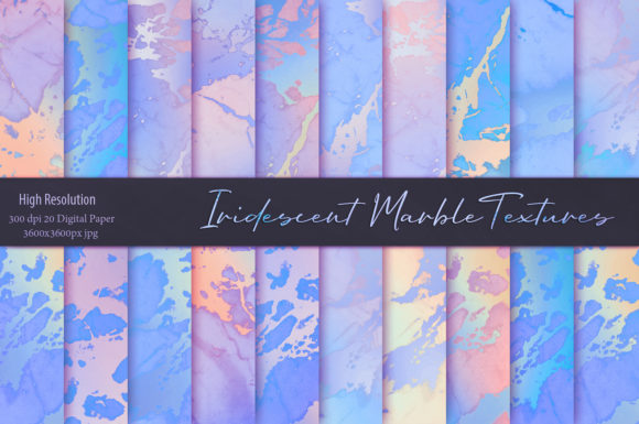 Beautiful Iridescent Marble Textures Graphic Backgrounds By Creative Paper