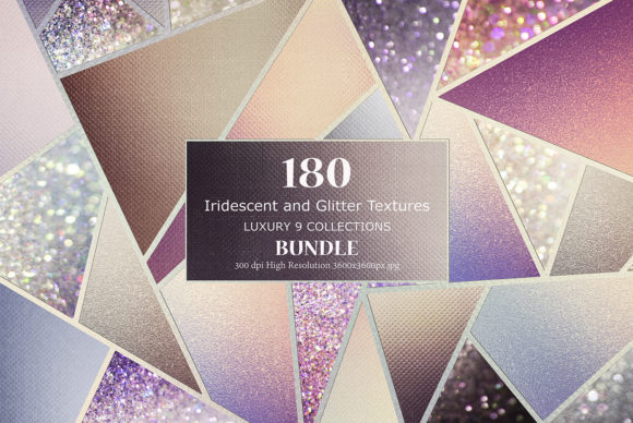 Print on Demand: Iridescent and Glitter Textures Bundle Grafik Texturen von Creative Paper