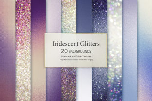 Iridescent and Glitter Textures Graphic By artisssticcc
