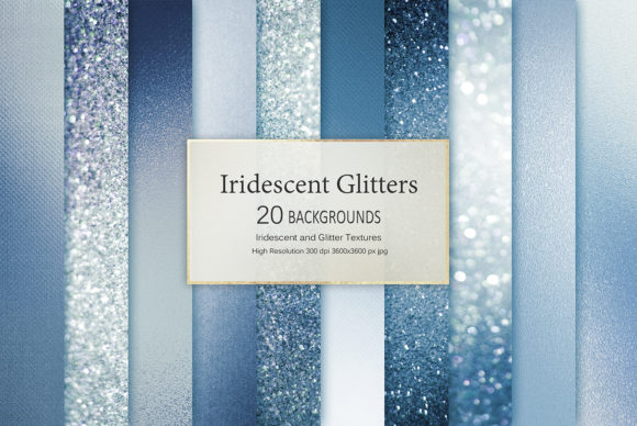 Iridescent and Glitter Textures Graphic Backgrounds By Creative Paper