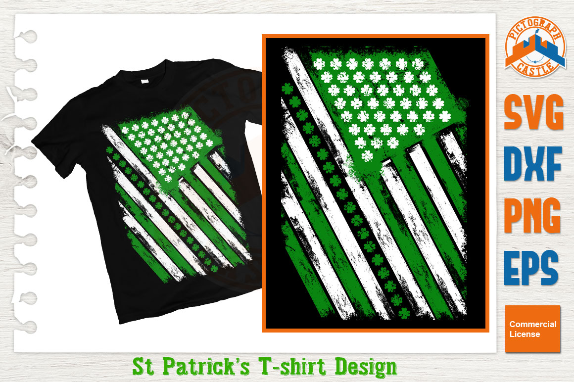 Download Free Irish And American Flag Graphic By Graphicza Creative Fabrica for Cricut Explore, Silhouette and other cutting machines.