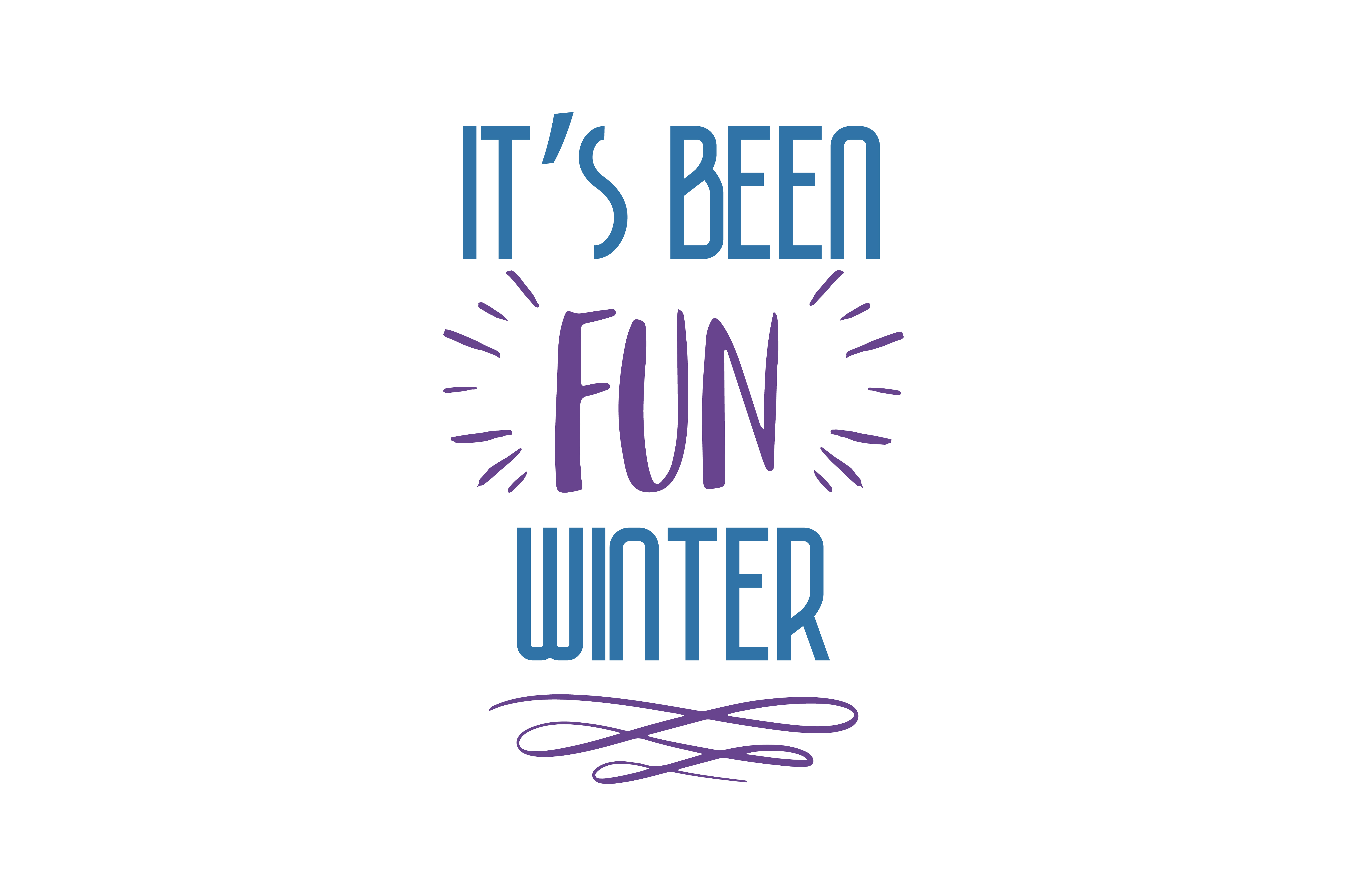 Download Free Its Been Fun Winter Quote Svg Cut Graphic By Thelucky Creative for Cricut Explore, Silhouette and other cutting machines.