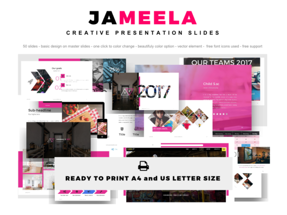 Jameela Creative Beautifully PowerPoint Presentation Templates Graphic By rivatxfz