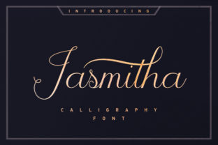 Jasmitha Script Script & Handwritten Font By Stripes Studio