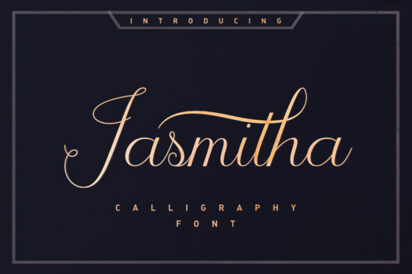 Print on Demand: Jasmitha Script Script & Handwritten Font By Stripes Studio