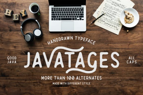 Print on Demand: Javatages Display Font By goodjavastudio - Image 1
