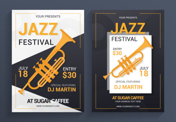 Jazz Flyer Template Graphic Print Templates By SugarV_Creative