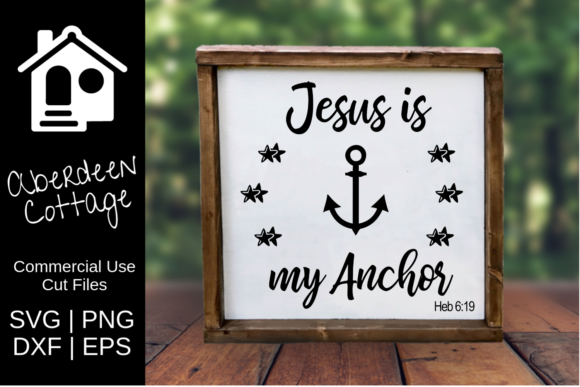 Download Free Jesus Is My Anchor Religious Design Graphic By Aberdeencottage for Cricut Explore, Silhouette and other cutting machines.