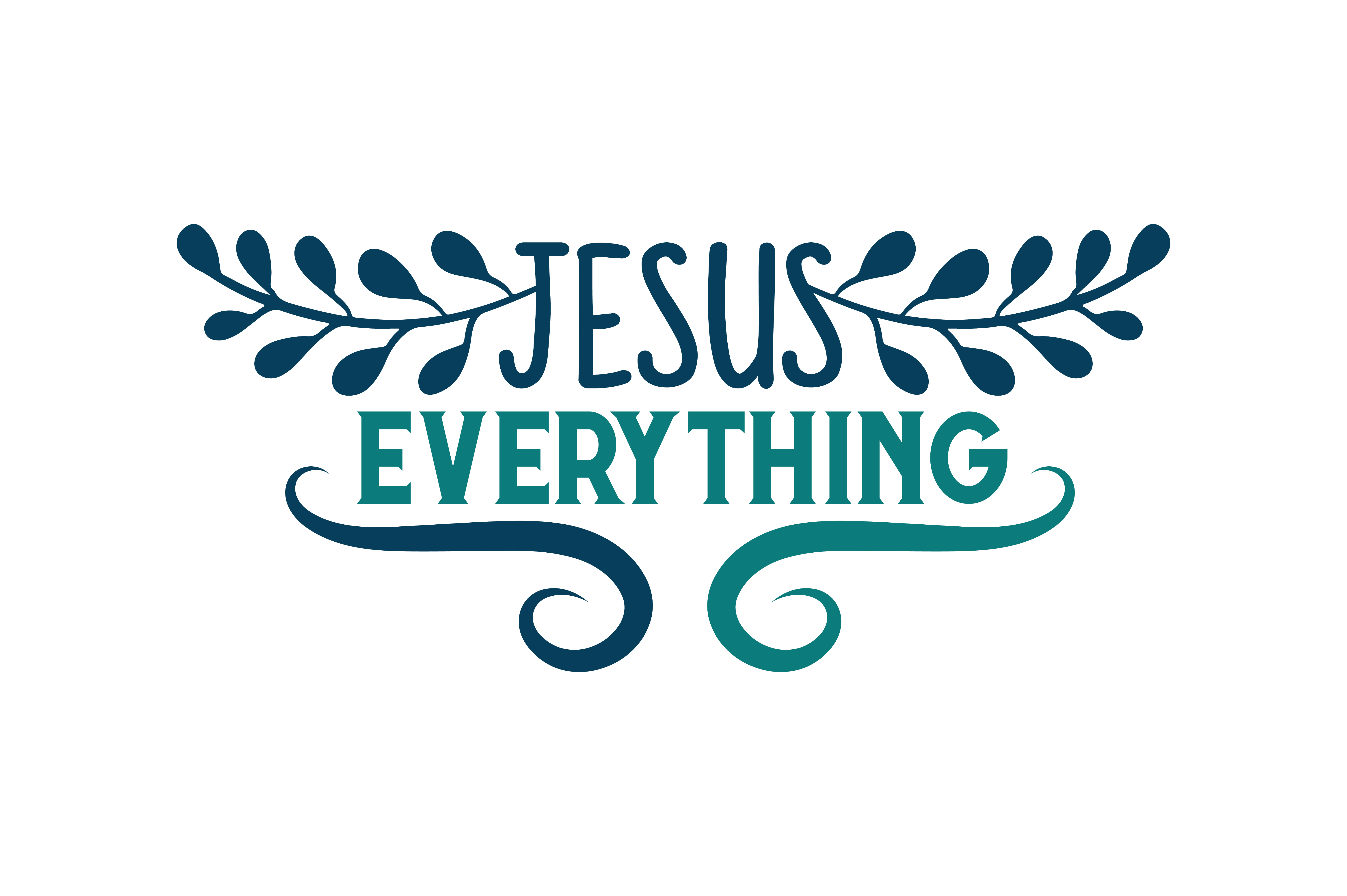 Download Free Jesus Everything Quote Svg Cut Graphic By Thelucky Creative for Cricut Explore, Silhouette and other cutting machines.