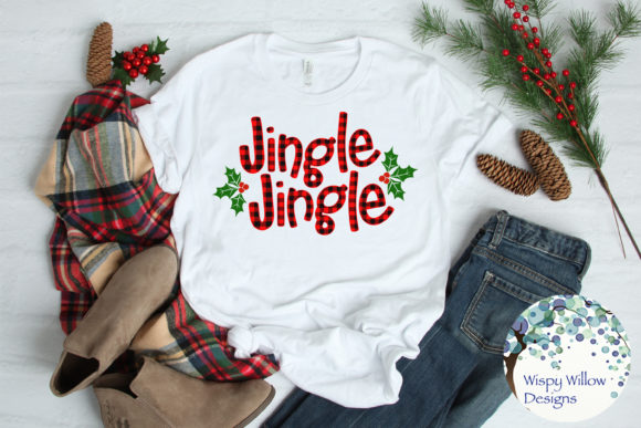 Download Free Jingle Jingle Plaid Svg Christmas Graphic By Wispywillowdesigns Creative Fabrica for Cricut Explore, Silhouette and other cutting machines.