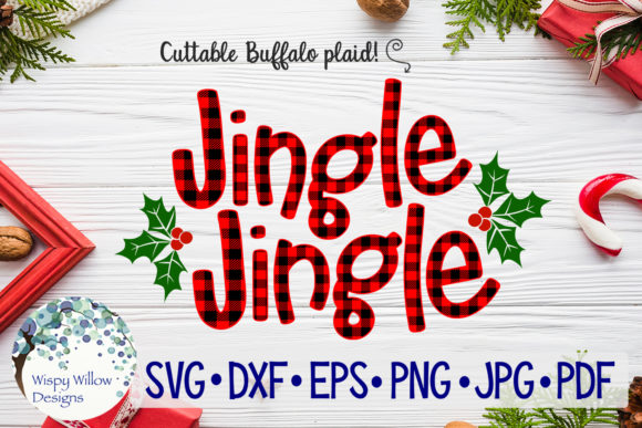 Download Free Jingle Jingle Plaid Svg Christmas Graphic By Wispywillowdesigns Creative Fabrica SVG Cut Files