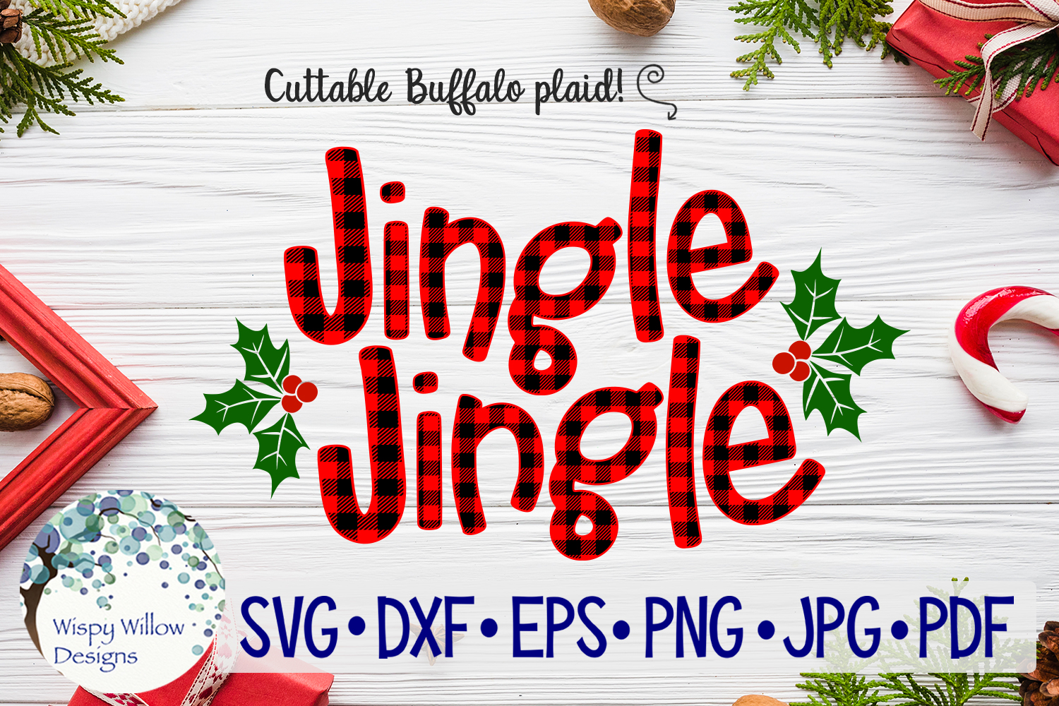 Download Free Jingle Jingle Plaid Svg Christmas Graphic By Wispywillowdesigns for Cricut Explore, Silhouette and other cutting machines.