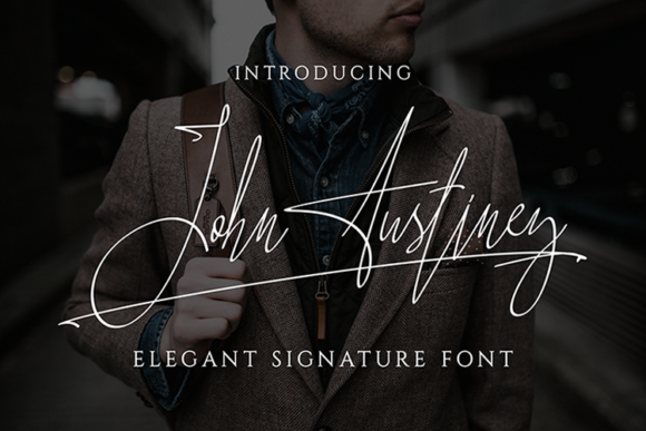 Print on Demand: John Austiney Script & Handwritten Font By fadhil figuree
