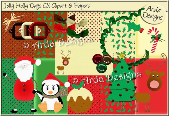 Jolly Holly Day Graphic By Arda Designs Creative Fabrica