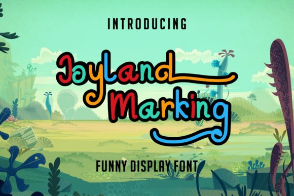 Print on Demand: Joyland Marking Display Font By MJB Letters