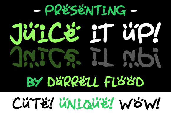 Print on Demand: Juice It Up Display Font By Dadiomouse