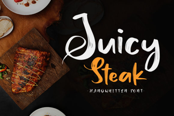 Print on Demand: Juicy Steak Script & Handwritten Font By craftsupplyco - Image 1
