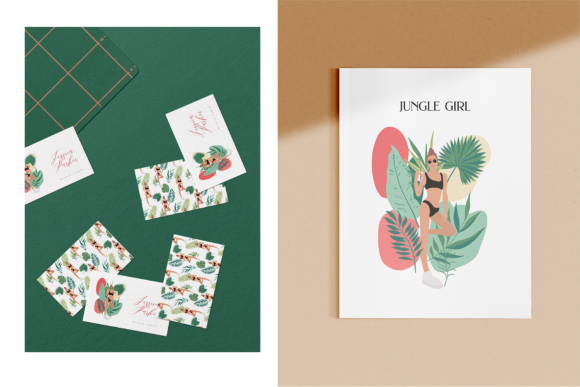 Jungle Girls Graphic Illustrations By BilberryCreate - Image 2
