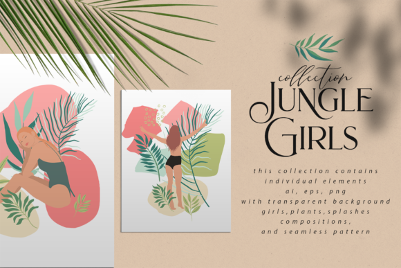 Jungle Girls Graphic Illustrations By BilberryCreate