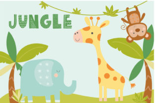 Print on Demand: Jungle Graphic Illustrations By poppymoondesign