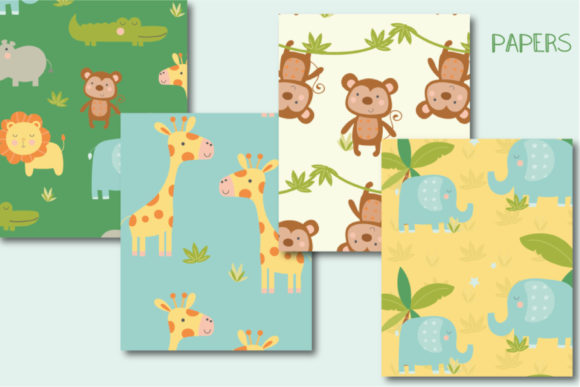 Download Free Jungle Paper Grafico Por Poppymoondesign Creative Fabrica for Cricut Explore, Silhouette and other cutting machines.