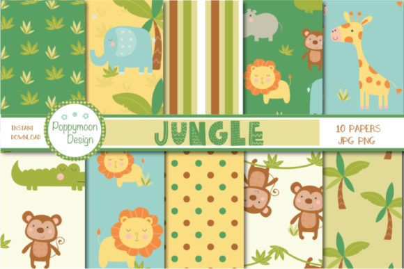 Print on Demand: Jungle Paper Graphic Patterns By poppymoondesign