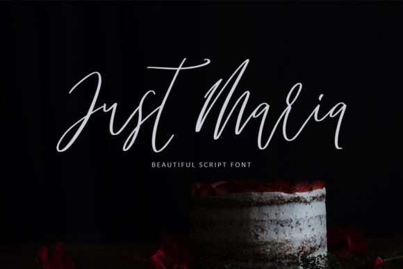 Just Maria Script & Handwritten Font By Creativeqube Design