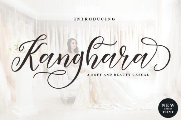 Print on Demand: Kanghara Script & Handwritten Font By rotterlabstudio
