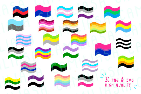 Download Free Lgbt Gay Pride Flags Graphic By Inkclouddesign Creative Fabrica for Cricut Explore, Silhouette and other cutting machines.