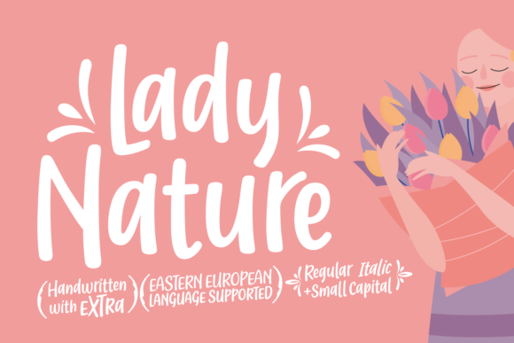 Print on Demand: Lady Nature Script & Handwritten Font By Situjuh