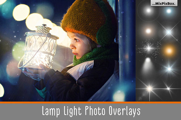 Print on Demand: Lamp Light Photo Overlays Graphic Layer Styles By MixPixBox