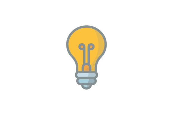 Download Free Lightbulb Icon Graphic By Kanggraphic Creative Fabrica for Cricut Explore, Silhouette and other cutting machines.
