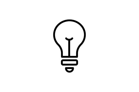 Download Free Lamp Icon Graphic By Kanggraphic Creative Fabrica for Cricut Explore, Silhouette and other cutting machines.