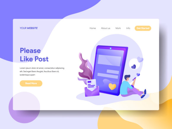 Landing Page Please Like Post Graphic Landing Page Templates By Twiri