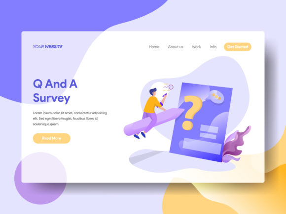 Landing Page Q and a Graphic By Twiri