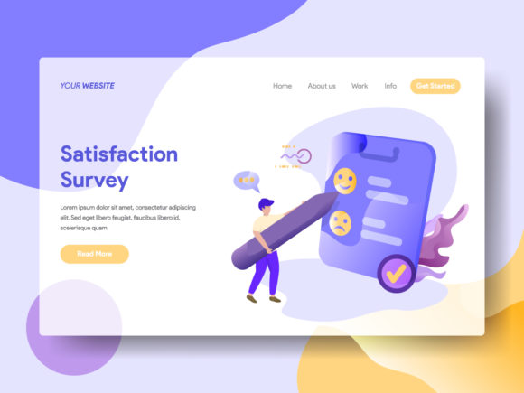 Landing Page Satisfaction Survey Graphic By Twiri Image 1