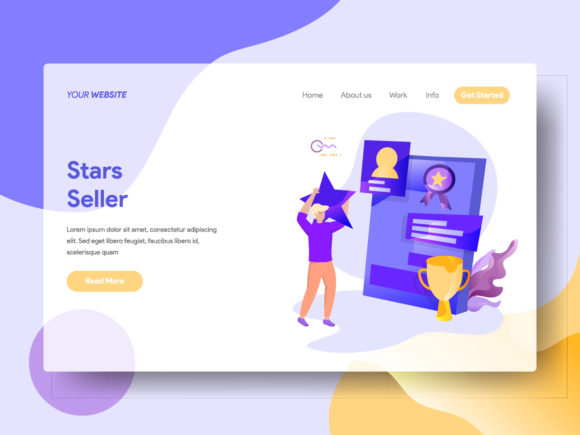 Landing Page Stars Seller Graphic Landing Page Templates By Twiri