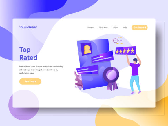 Landing Page Top Rated Graphic Landing Page Templates By Twiri - Image 1