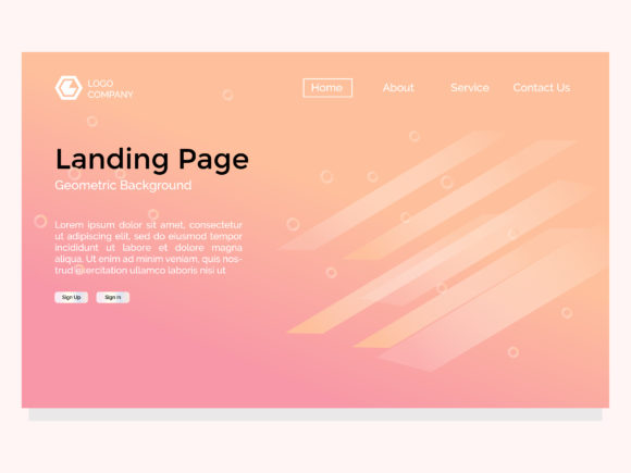 Landing Page with Graphic Landing Page Templates By Griyocreative - Image 1