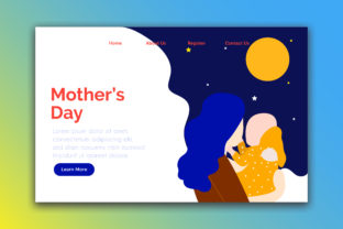 Landing Page Happy Mother Day Graphic By Griyolabs Creative