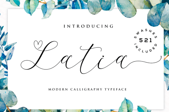 Print on Demand: Latia Script Manuscrita Fuente Por fanastudio