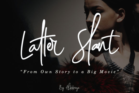 Print on Demand: Latter Slant Script & Handwritten Font By aldedesign